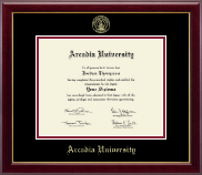 Arcadia University Diploma Frame - Gold Embossed Diploma Frame in Gallery