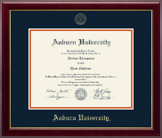 Auburn University Diploma Frame - Gold Embossed Diploma Frame in Gallery