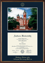 Auburn University Diploma Frame - Campus Scene Diploma Frame in Williamsburg