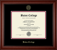 Bates College Diploma Frame - Gold Embossed Diploma Frame in Cambridge