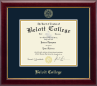 Beloit College Diploma Frame - Gold Embossed Diploma Frame in Gallery