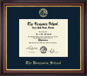 The Benjamin School Diploma Frame - Gold Embossed Diploma Frame in Regency Gold