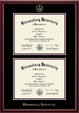 Bloomsburg University Diploma Frame - Double Diploma Frame in Galleria