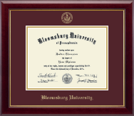 Bloomsburg University Diploma Frame - Gold Embossed Diploma Frame in Gallery