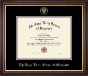 The Boys' Latin School of Maryland Diploma Frame - Gold Embossed Diploma Frame in Regency Gold