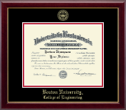 Boston University Diploma Frame - Gold Embossed Diploma Frame in Gallery