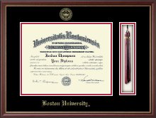Boston University Diploma Frame - Tassel Diploma Frame in Newport