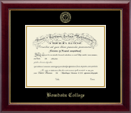 Bowdoin College Diploma Frame - Gold Embossed Diploma Frame in Gallery