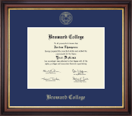 Broward College Diploma Frame - Gold Embossed Diploma Frame in Regency Gold