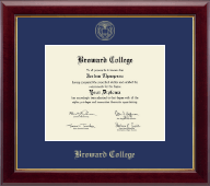 Broward College Diploma Frame - Gold Embossed Diploma Frame in Gallery