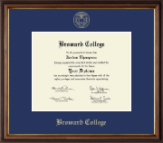Broward College Diploma Frame - Gold Embossed Diploma Frame in Williamsburg