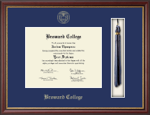 Broward College Diploma Frame - Tassel Edition Diploma Frame in Newport