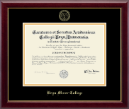 Bryn Mawr College Diploma Frame - Embossed Diploma Frame in Gallery