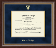 Clarke College Diploma Frame - Gold Embossed Diploma Frame in Hampshire