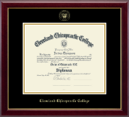 Cleveland Chiropractic College Diploma Frame - Gold Embossed Diploma Frame in Gallery