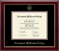 Claremont McKenna College Diploma Frame - Gold Embossed Diploma Frame in Gallery