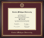 Central Michigan University Diploma Frame - Gold Embossed Diploma Frame in Regency Gold