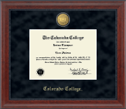 Colorado College Diploma Frame - 23K Medallion Diploma Frame in Signature