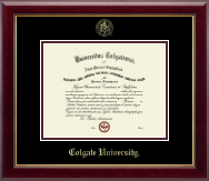 Colgate University Diploma Frame - Gold Embossed Diploma Frame in Gallery
