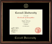 Cornell University Certificate Frame - Gold Embossed Certificate Frame in Williamsburg