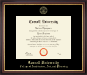 Cornell University Diploma Frame - Gold Embossed Diploma Frame in Regency Gold