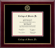 College of Santa Fe Diploma Frame - Gold Embossed Diploma Frame in Gallery