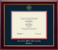 Colorado State University Pueblo Diploma Frame - Gold Embossed Diploma Frame in Gallery