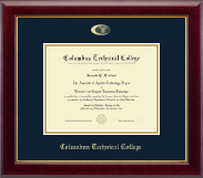 Columbus Technical College Diploma Frame - Gold Embossed Diploma Frame in Gallery