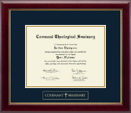 Covenant Theological Seminary Diploma Frame - Gold Embossed Diploma Frame in Gallery