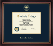Centralia College Diploma Frame - Gold Embossed Diploma Frame in Regency Gold