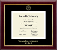 Concordia University Saint Paul Minnesota Diploma Frame - Gold Embossed Diploma Frame in Gallery
