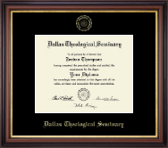 Dallas Theological Seminary Diploma Frame - Gold Embossed Diploma Frame in Regency Gold