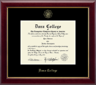Dana College Diploma Frame - Gold Embossed Diploma Frame in Gallery