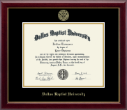 Dallas Baptist University Diploma Frame - Gold Embossed Diploma Frame in Gallery