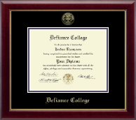Defiance College Diploma Frame - Gold Embossed Diploma Frame in Gallery