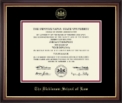 Pennsylvania State University Diploma Frame - Gold Embossed Diploma Frame in Regency Gold