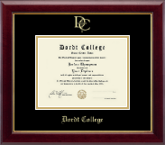Dordt College Diploma Frame - Gold Embossed Diploma Frame in Gallery