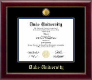 Duke University Diploma Frame - 23K Diploma Frame in Gallery