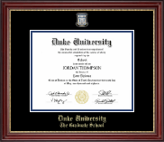 Duke University Diploma Frame - Masterpiece Medallion Diploma Frame in Kensington Gold
