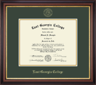 East Georgia College Diploma Frame - Gold Embossed Diploma Frame in Regency Gold