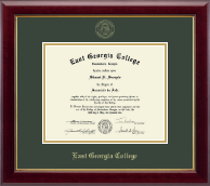 East Georgia College Diploma Frame - Gold Embossed Diploma Frame in Gallery