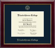 Elizabethtown College Diploma Frame - Gold Embossed Diploma Frame in Gallery