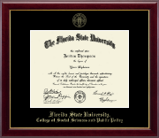 Florida State University Diploma Frame - Gold Embossed Diploma Frame in Gallery