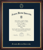 Francis Marion University Diploma Frame - Gold Embossed Diploma Frame in Regency Gold