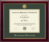 Franciscan University of Steubenville Diploma Frame - 23K Medallion Diploma Frame in Gallery