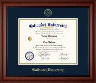 Gallaudet University Diploma Frame - Gold Embossed Diploma Frame in Cambridge