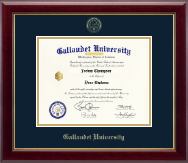 Gallaudet University Diploma Frame - Gold Embossed Diploma Frame in Gallery