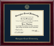 Georgian Court University Diploma Frame - Gold Embossed Diploma Frame in Gallery