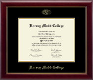 Harvey Mudd College Diploma Frame - Gold Embossed Diploma Frame in Gallery