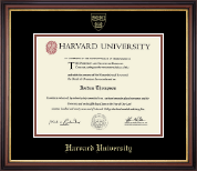 Harvard University Diploma Frame - Gold Embossed Diploma Frame in Regency Gold